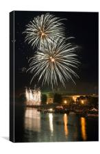 Fireworks on the River Trent, Canvas Print