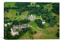 Aerial shot of Wollaton Hall, Canvas Print