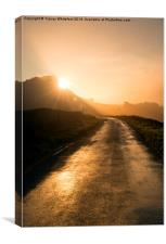 The Road to Sunrise, Canvas Print