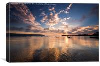Reflections of Swanage, Canvas Print