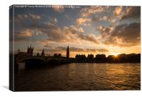 Westminster Sunset , Canvas Print