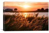 Narrows Sunset, Canvas Print
