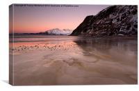 Frozen Grotfjord , Canvas Print