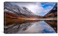 Loch Reflections , Canvas Print