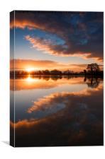 Sunrise Symmetry , Canvas Print