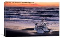 Jokulsarlon Sunrise, Canvas Print
