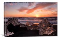 Icy Sunrise , Canvas Print