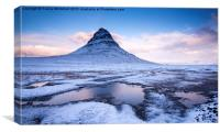 Frozen Kirkjufell, Canvas Print