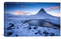Frozen Kirkjufell , Canvas Print