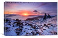 Winter at the Storr , Canvas Print