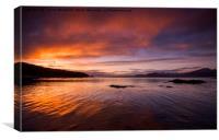 Blazing Sunset, Canvas Print