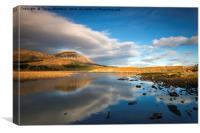 Reflection on Loch Cill Chriosd, Canvas Print