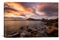 Elgol Sunset , Canvas Print