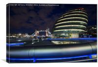 City Hall Blue Hour, Canvas Print
