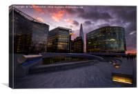 Southbank Sunset, Canvas Print