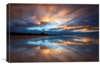 Reflections at Bamburgh, Canvas Print