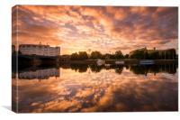 Trent Bridge Sunrise , Canvas Print