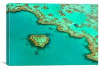 Heart Reef, Canvas Print