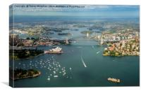 Sydney from the Air , Canvas Print