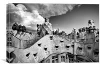 Gaudi's Rooftop , Canvas Print