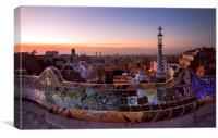 Sunrise of Gaudy's Barcelona , Canvas Print
