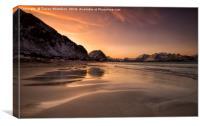 Ramberg Sunrise , Canvas Print