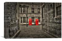 Phone box, Canvas Print