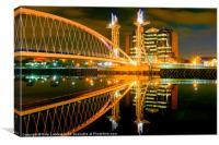 Quays Millennium footbridge, Canvas Print