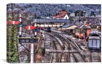 Llangollan Railway Station painted, Canvas Print
