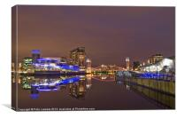Manchester at night, Canvas Print