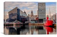 Mersey Bar Lightship, Canning Dock, Canvas Print