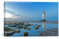 Wales, Talacre lighthouse, Canvas Print