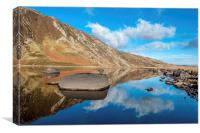 Llyn Eigiau, Snowdonia North Wales, Canvas Print