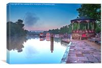 River Dee And Bandstand The Groves Chester, Canvas Print