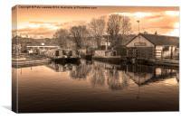 Trevor Basin , Llangollen North wales, Canvas Print