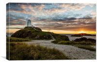 Twr Mawr Lighthouse   Llanddwyn Island, Canvas Print