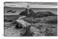 Twr Mawr Lighthouse   Llanddwyn Island Anglesey, Canvas Print