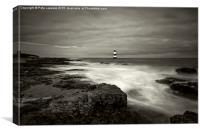 Penmon Lighthouse (re edited), Canvas Print