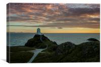 Twr Mawr Lighthouse   Llanddwyn Island Anglesey a, Canvas Print
