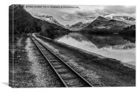 Llyn Padarn and Llanberis railway , Canvas Print