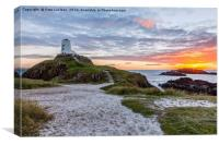 Sunset At Twr Mawr Lighthouse, Canvas Print