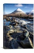 Glamaig Isle of Skye winter scene, Canvas Print