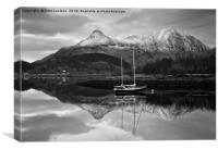 Buachaille Harbour Glen Coe, Canvas Print