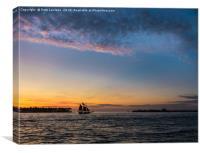 Sunset Key West Florida, Canvas Print