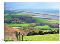 Abbotsbury Coastal Views, Canvas Print