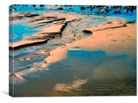 Beach Water Charmouth Dorset, Canvas Print