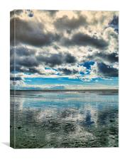 Reflections at the Jurassic Coast, Canvas Print