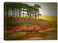 Budleigh Salterton Shoreline, Canvas Print