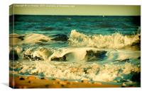 Warm Waves, Canvas Print