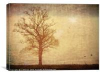 Feminine Goddess Tree Silhouette - artsy style    , Canvas Print
